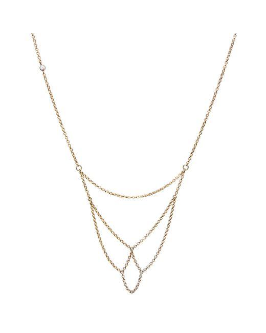Dutch Basics | Metallic Boog Fine Chain Necklace Gold | Lyst