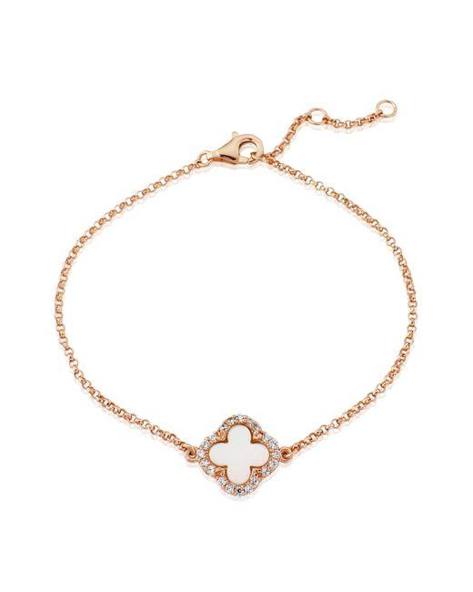Auree Jewellery - Metallic Irini Rose Gold And Mother Of Pearl Clover Bracelet - Lyst