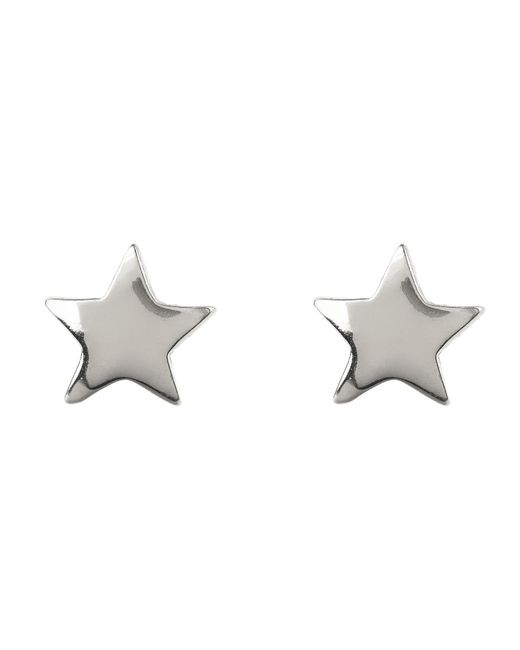 Latelita London - Metallic Cosmic Mini Star Earring Silver - Lyst