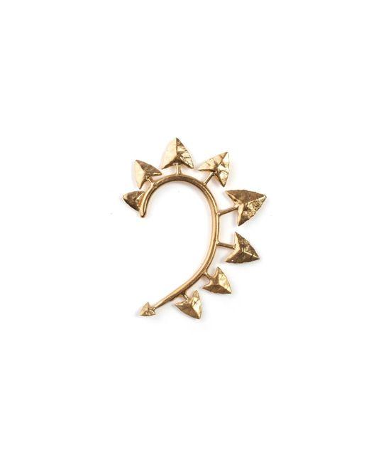 Rachel Entwistle | Metallic Gold Modern Primitive Earcuff | Lyst