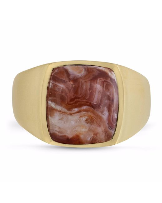 LMJ | Multicolor Red Lace Agate Iconic Stone Ring | Lyst