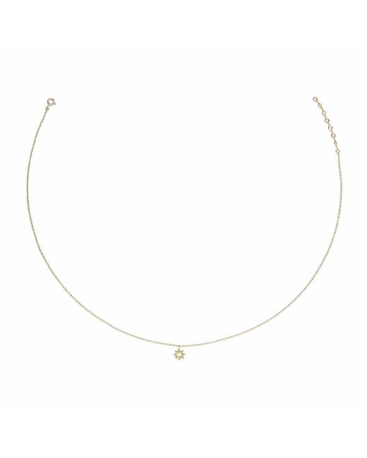 Agnes De Verneuil | Metallic Gold Necklace Tiny Sun | Lyst