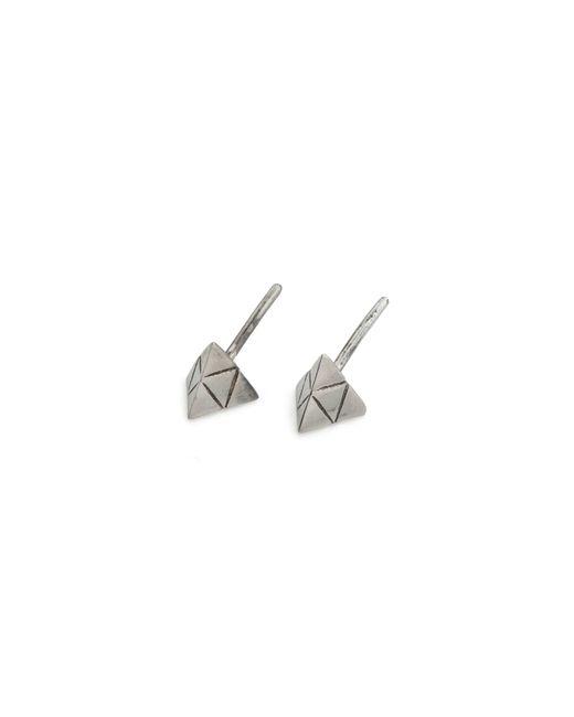 Rachel Entwistle   Metallic Tetra Studs Silver   Lyst