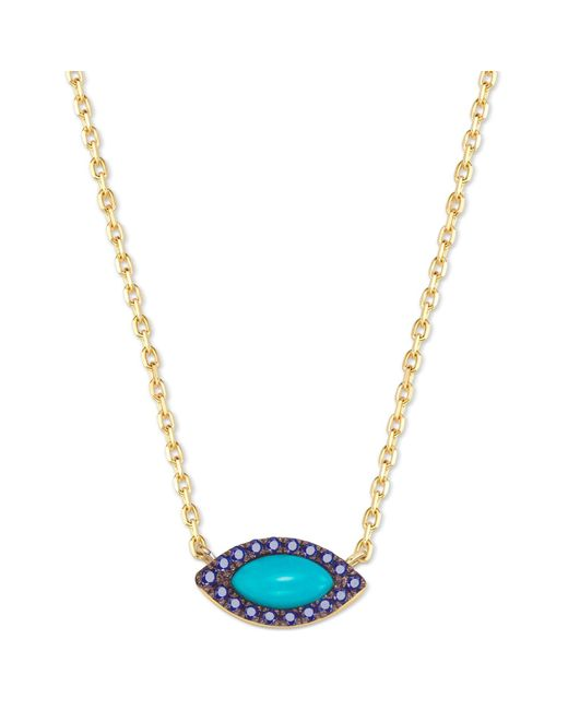 Elham and Issa Jewellery - Blue Awe Eye Sapphire Necklace - Lyst