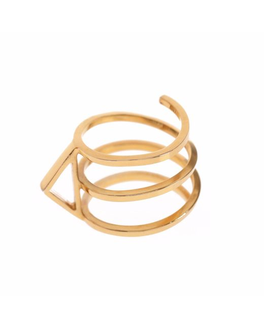 Sally Lane Jewellery - Metallic In My Defence Gold Ring - Lyst