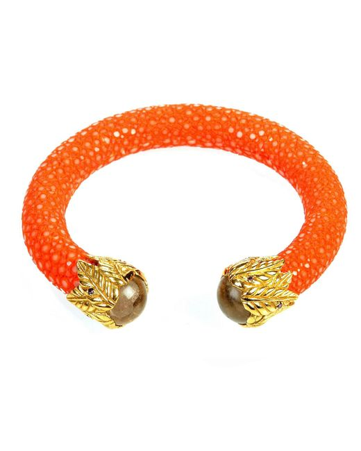 Latelita London | Multicolor Stingray Bangle Orange With Citrine | Lyst