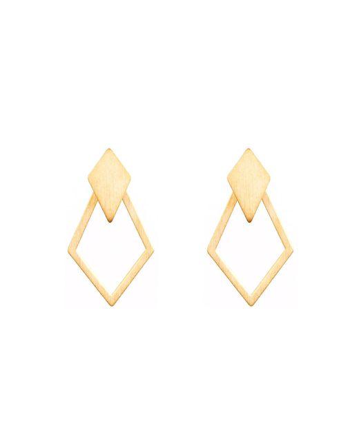 Dutch Basics - Metallic Ruit Detachable Drop Earrings Gold - Lyst