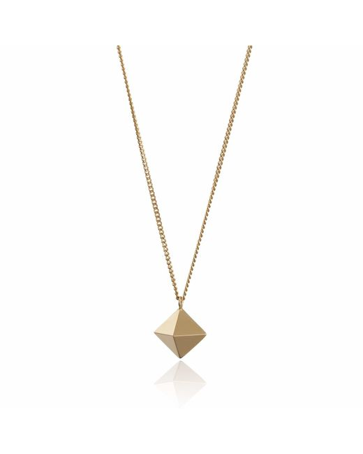 Myia Bonner - Metallic Large Gold Octahedron Necklace - Lyst
