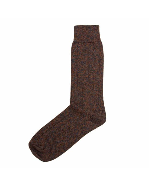40 Colori - Brown Rust Melange Thick Ribbed Organic Cotton Socks for Men - Lyst