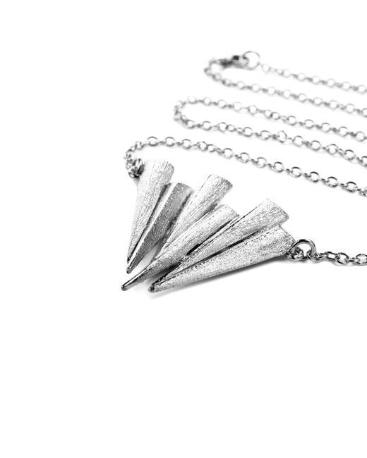 Ona Chan Jewelry | Metallic Six Daggar Necklace Silver | Lyst