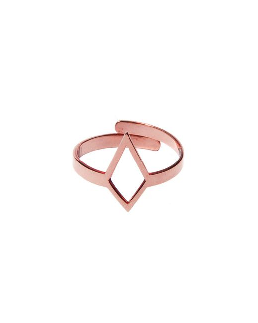 Dutch Basics - Metallic Ruit Adjustable Knuckle Ring Small Rose Gold - Lyst