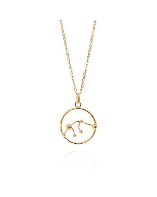 Yasmin Everley Jewellery - Metallic Aquarius Astrology Necklace In 9ct Gold - Lyst