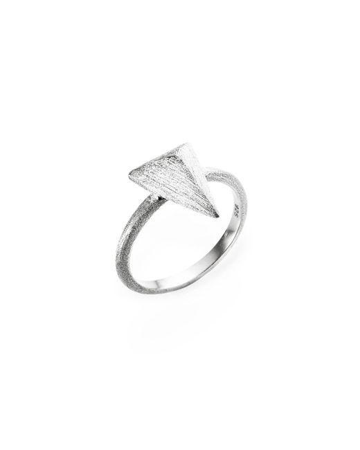 Ona Chan Jewelry | Metallic Triangle Ring Silver | Lyst