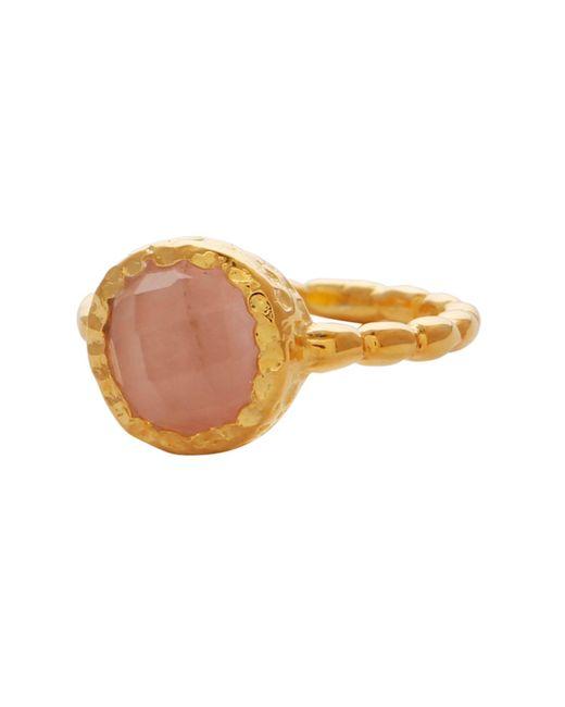 Carousel Jewels - Metallic Rose Quartz Gold Textured Ring - Lyst