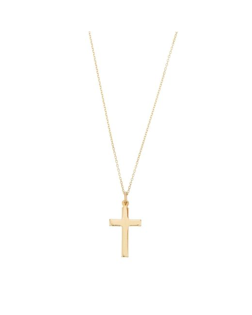 Lily & Roo Metallic Solid Gold Cross Pendant Necklace