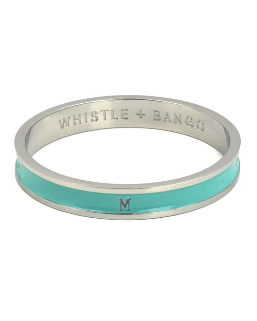 Whistle & Bango   Metallic 'm' Alphabet Bangle Mint   Lyst