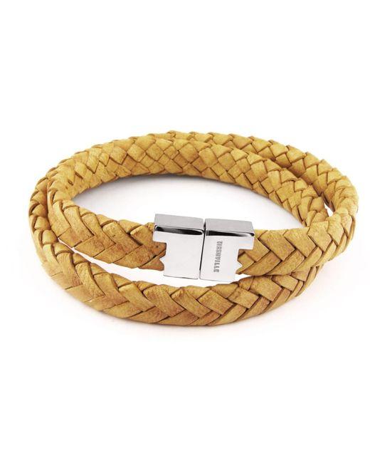 Tissuville - Metallic Stark Bracelet Mustard Silver for Men - Lyst