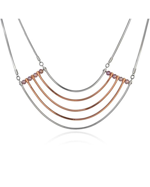 Cara Tonkin | Metallic Orbit Cosmos Necklace Rose Gold | Lyst