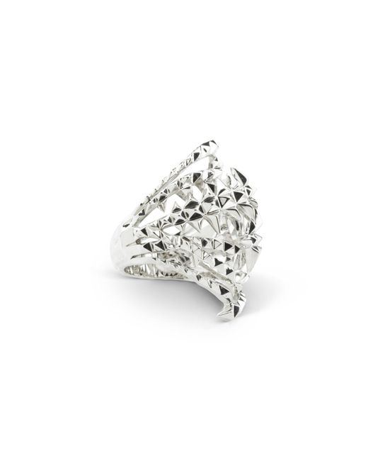 Kasun | Metallic The Blades Of Octopi Silver Ring | Lyst