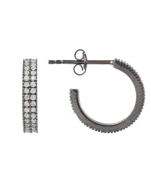 Latelita London - Medium Hoop Earring Oxidised White - Lyst