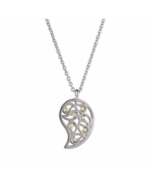 Sonal Bhaskaran | Multicolor Reya Gold Paisley Necklace Clear Cz | Lyst