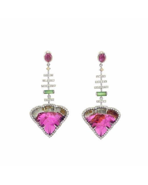 Ri Noor - Multicolor Diamond & Tourmaline Earrings - Lyst