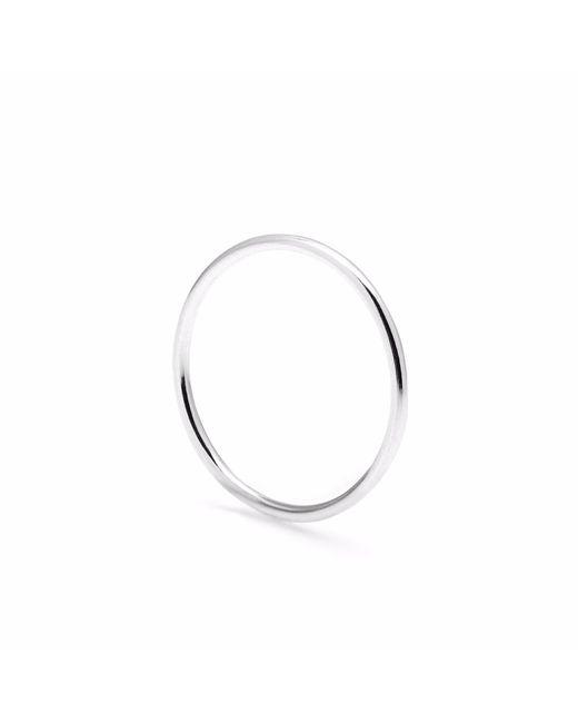 Myia Bonner | Metallic Silver Round Stacking Ring | Lyst