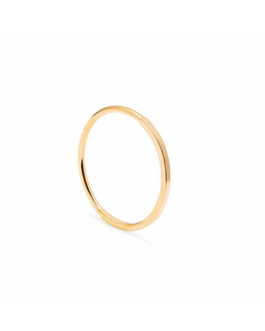 Myia Bonner - Metallic Gold Square & 50 Round Skinny Stacking Ring - Lyst