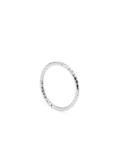 Myia Bonner - Metallic Initial F Silver Edwardian Signet Ring - Lyst