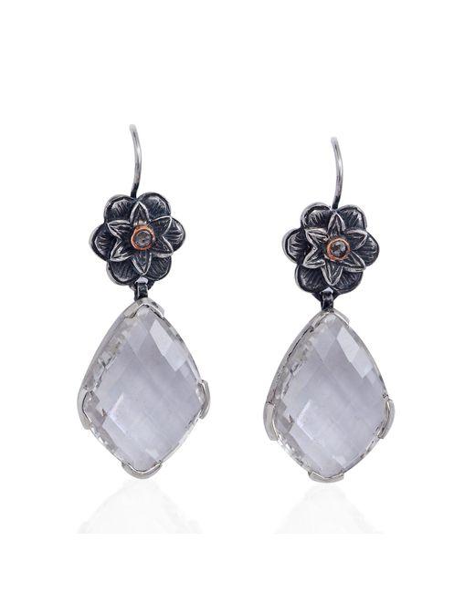 Emma Chapman Jewels - White Talini Chandelier Earrings - Lyst
