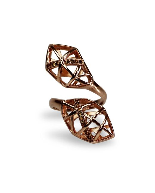 Bellus Domina - Metallic Citrine & Rose Gold Geometric Ring - Lyst