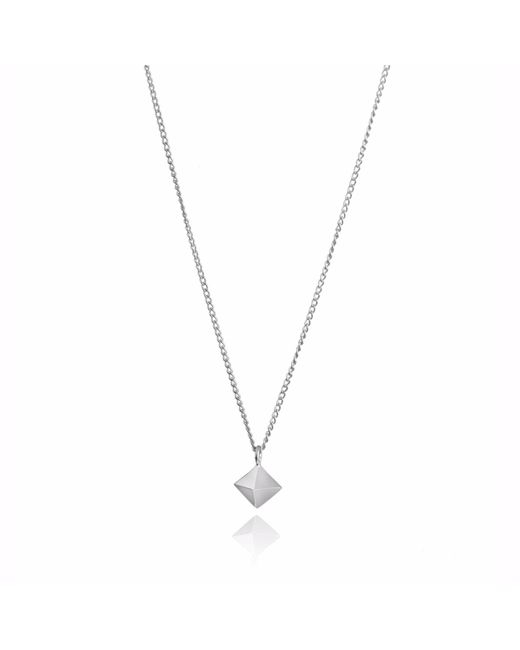 Myia Bonner | Metallic Silver Mini Octahedron Necklace | Lyst