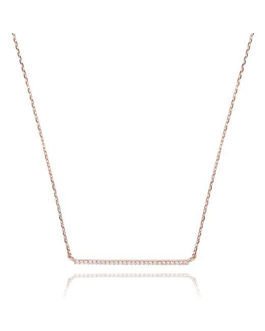 Astrid & Miyu | Metallic Walk The Line Big Bar Necklace In Rose Gold | Lyst