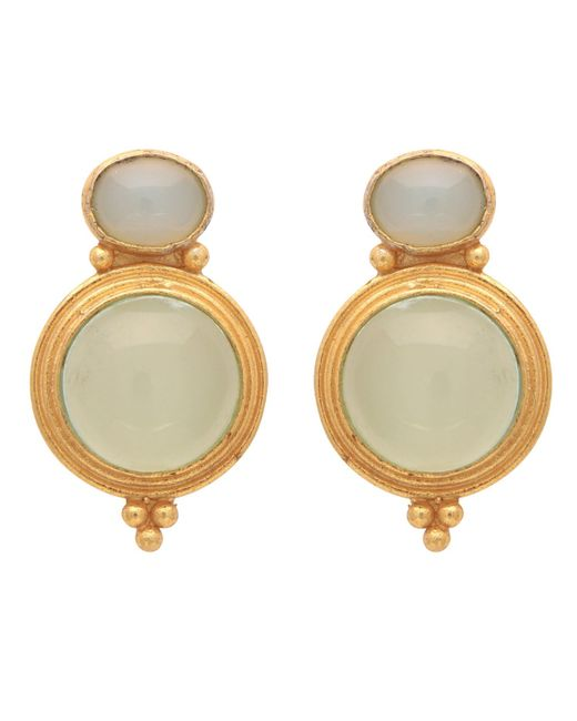 Carousel Jewels | Metallic Gold & Chalcedony Curio Earrings | Lyst