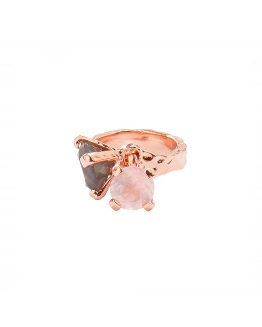 Alexandra Alberta - Pink Belle Labradorite Ring - Lyst