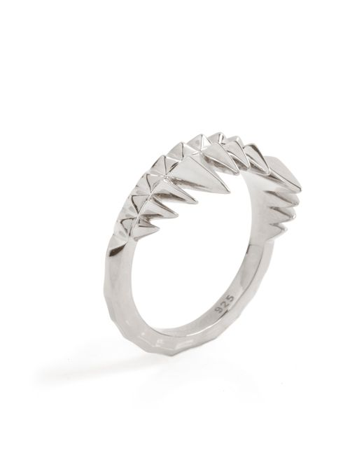 Kasun - Metallic Crocodile Bite Ring Silver - Lyst