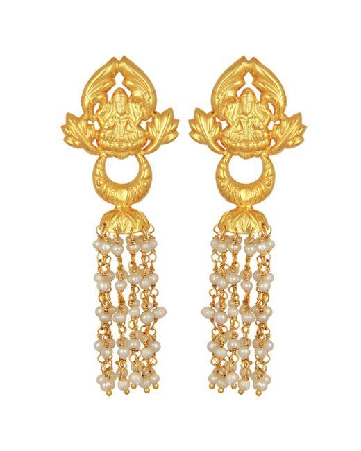 Carousel Jewels - Metallic Ornate Gold & Pearl Chandelier Earrings - Lyst
