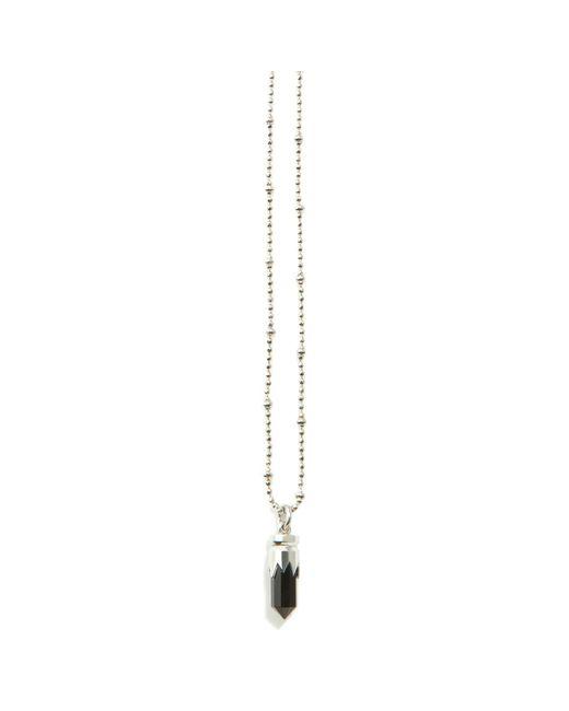 Kasun - Black Bullet Necklace Silver - Lyst