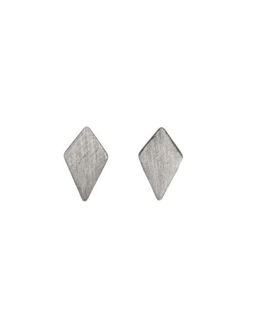 Dutch Basics - Gray Ruit Stud Earrings Oxidized Silver - Lyst
