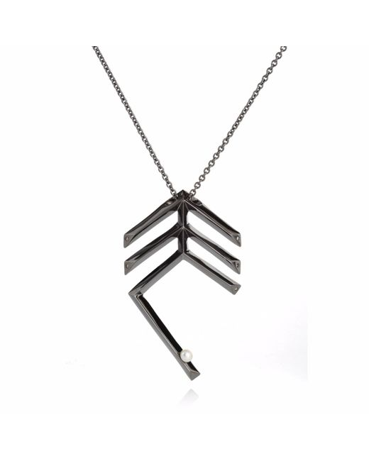 Sonal Bhaskaran | Miu Deco Feather Necklace Black | Lyst