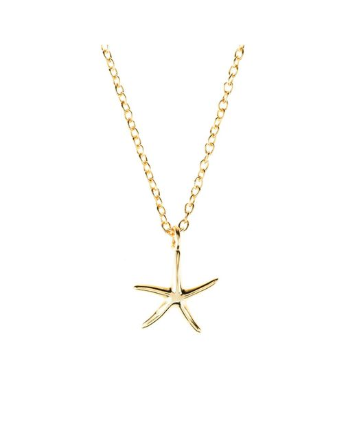 Latelita London - Metallic Cosmic Petite Starfish Necklace Gold - Lyst