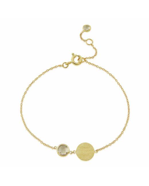 Auree Jewellery - Metallic Bali 9ct Gold April Birthstone Bracelet White Topaz - Lyst