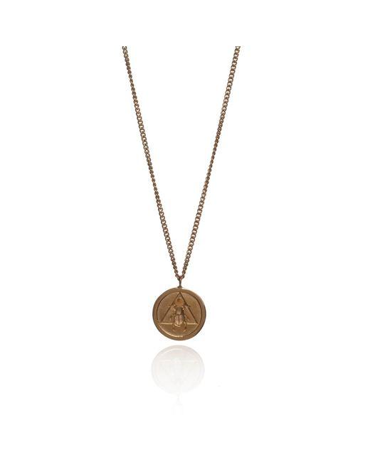 Rachel Entwistle | Metallic The Scarab Pendant Gold | Lyst