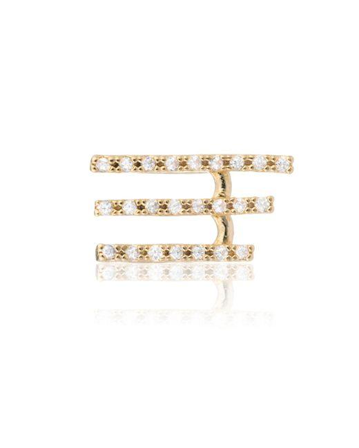 Astrid & Miyu - Metallic Crystal Armour Ear Cuff Gold - Lyst
