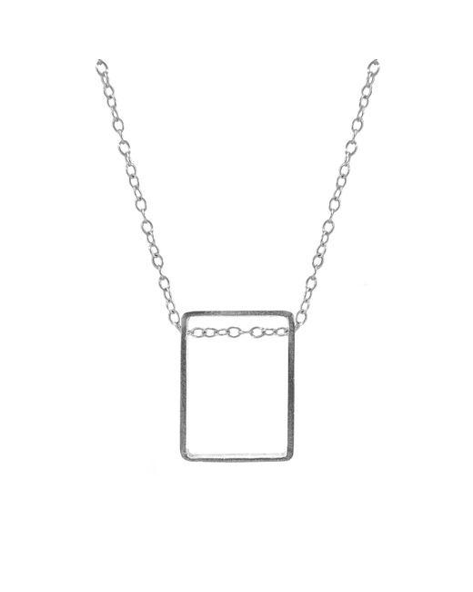 Anchor & Crew - Metallic Bowen Box Mini Geometric Silver Necklace Pendant - Lyst