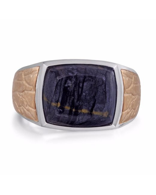 LMJ - Multicolor Grey Picture Agate Stone Ring for Men - Lyst