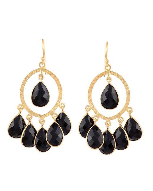 Carousel Jewels | Black Spinel Hoop Cluster Earrings | Lyst