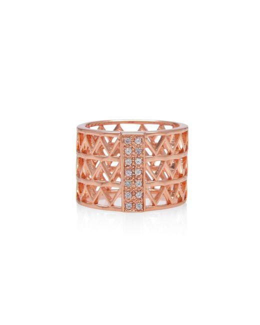 Alexandra Alberta - Pink Guggenheim Studded Ring - Lyst