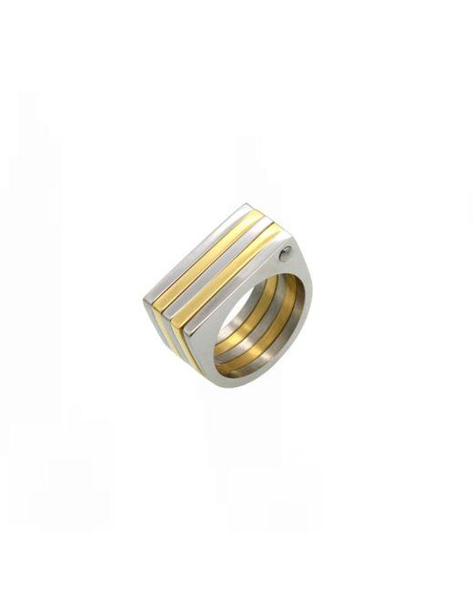 Opes Robur | Metallic Geo Ring | Lyst