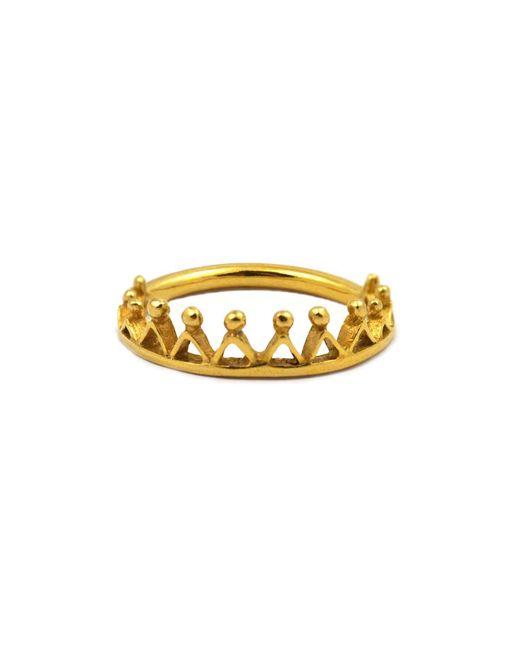 Annabelle Lucilla Jewellery | Metallic Dainty Stella Crown Ring Gold | Lyst